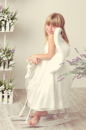 girl in an angel dress photo