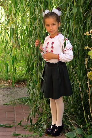 costum: beautiful girl in the national Ukrainian costum
