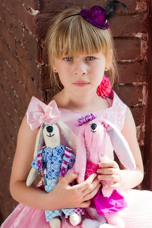 6 years: Girl 6 years old with homemade toys