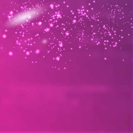 starfield: Vector infinite space. Purple background with glowing elements