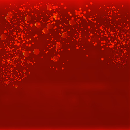 hyperspace: Vector infinite space. Red background with glowing elements