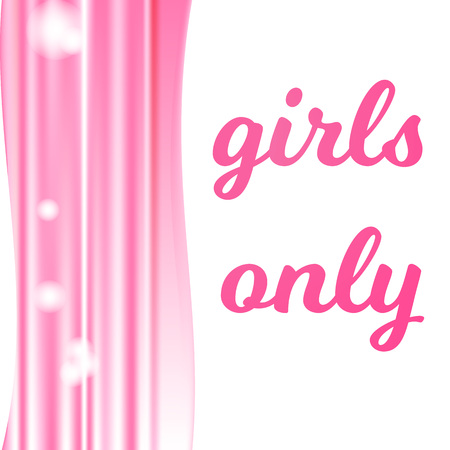 The pink abstract wavy background horizontally mash and text girls only