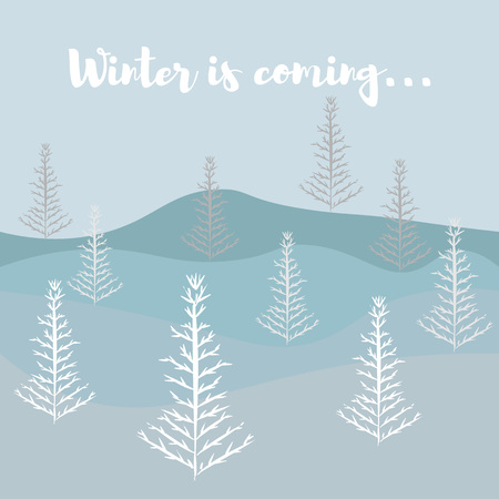 vector illustration winter is coming Ilustracja