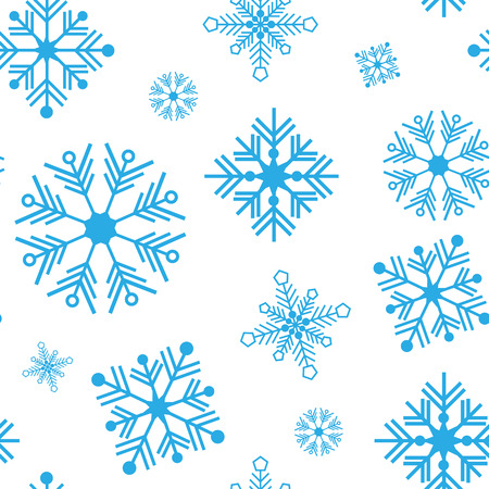 Seamless vector pattern with detailed snowflakes Illustration