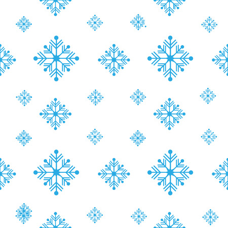 A Seamless vector pattern with detailed snowflakes Vectores