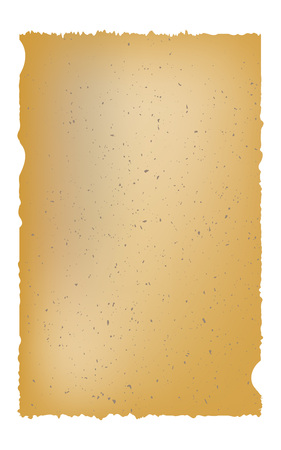 Old parchment isolated on white background. vector illustration.