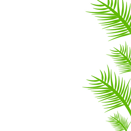 Template with a branch of a green plant Illustration