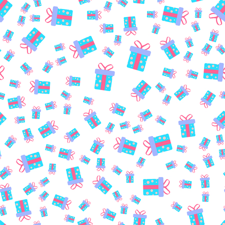 Vector illustration. Seamless pattern of gift box. For printing on wrapping paper