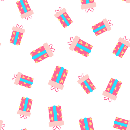 Cute party presents seamless pattern. vector illustration