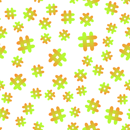 Vector illustration. Hashtag icon seamless pattern. Hashtag random seamless pattern