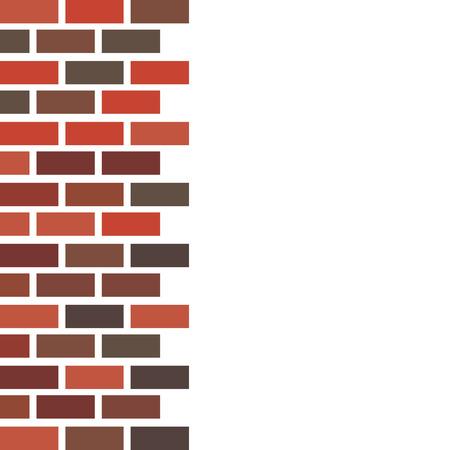 Vector illustration. Brick brown wall. Flat style