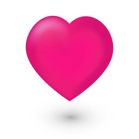 Różowa ikona siatki serca na białym tle