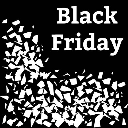 Black Friday. Explosions with the inscription. Sales concept on black friday. Vector illustration Ilustrace