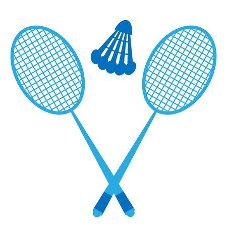 Badminton - shuttlecock and racket. Summer sport and relaxation. Vector illustration Ilustração Vetorial