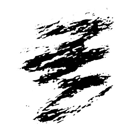 Ink black blot Abstract stain. Isolate on a white background