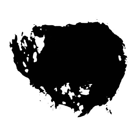 Ink black blot. Abstract stain. Isolate on a white background. Vector illustration