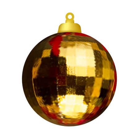 Christmas ball on the tree. Christmas decoration. Vector image