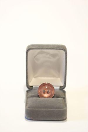 cufflink: box with cuff-link close up Stock Photo