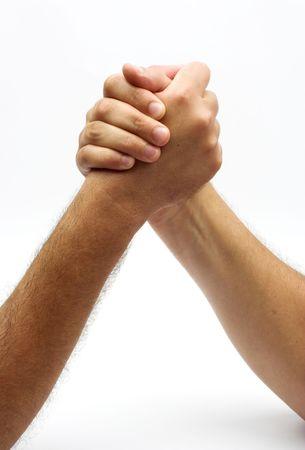 positiveness: las dos manos en la lucha de fondo  Foto de archivo