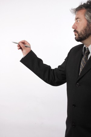 image of man with pen Stock Photo - 8072984