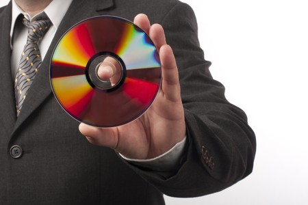 hand with disc close up Stock Photo - 8072981