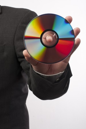 hand with disc close up Stock Photo - 8072978