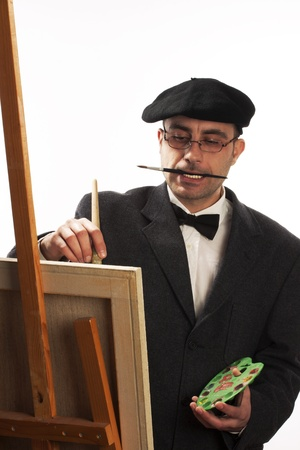 man posing in art studio Stock Photo - 8601261