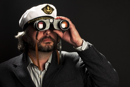 Captain of the ocean ship Stock Photo - 8640708