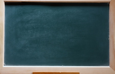 isolated green blackboard close up photo