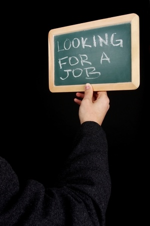 notice for job on chalkboard photo