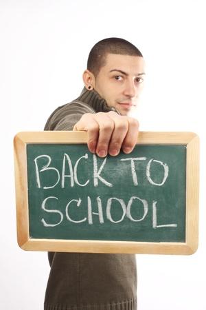 young man start school interest Stock Photo - 9180491