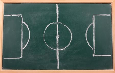 chalkboard classroom soccer tactics team Stock Photo - 9180497