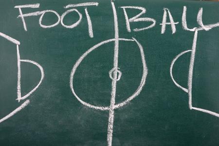 chalkboard classroom soccer tactics team Stock Photo - 9180507