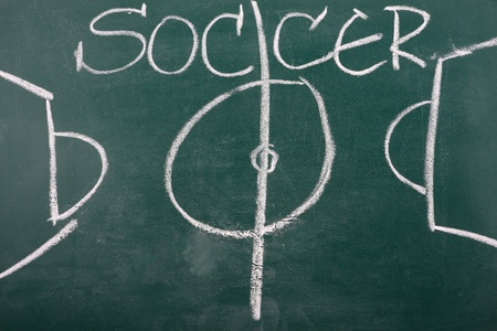 chalkboard classroom soccer tactics team Stock Photo - 9180506
