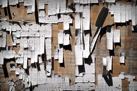 White peeling paint from old wooden door