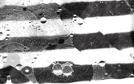 Abstract Black And White Soap Bubble Background