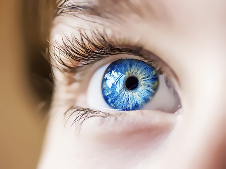insightful look cartoon eye Stock Photo