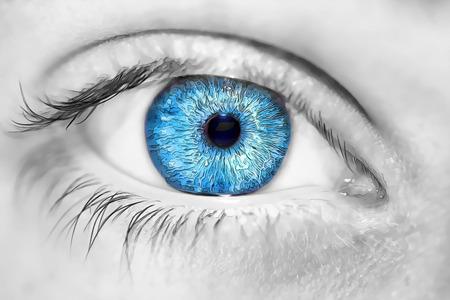 insightful: insightful look blue eyes boy Stock Photo