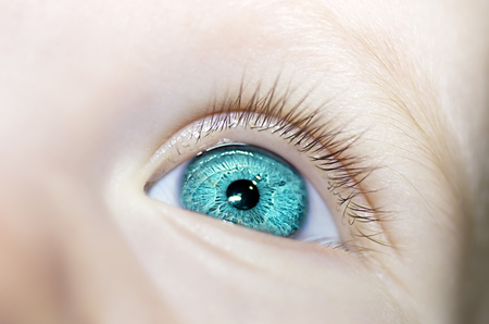 insightful: insightful look blue eyes boy Stock Photo