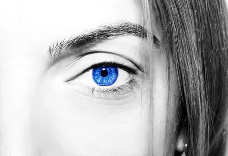 insightful: Beautiful insightful look blue eyes