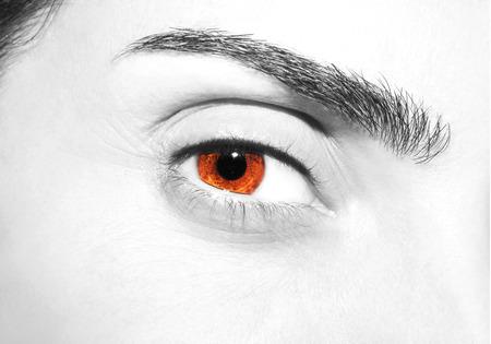 insightful: Beautiful insightful look brown eyes