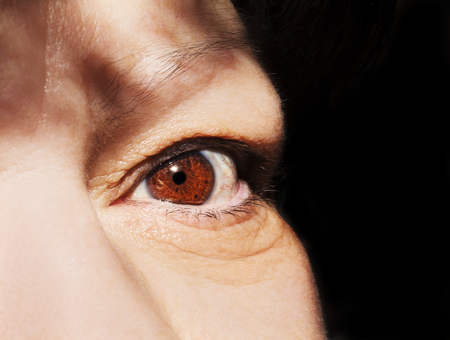 optician: A beautiful insightful look womans eye. Close up shot Stock Photo