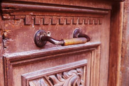 door handle: An ancient door handle in Tbilisi, Georgia Stock Photo