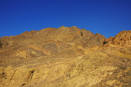 A beautiful mountains in the Desert of Negev, Israel Stock Photo