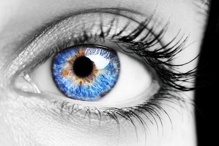 A beautiful insightful look womans eye. Close up Stock Photo