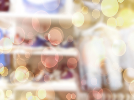 bokeh background of inside department store Stock Photo