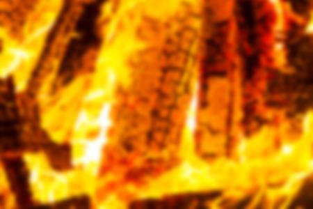 Abstract blur background. Festive Lag Baomer bonfires in Israel