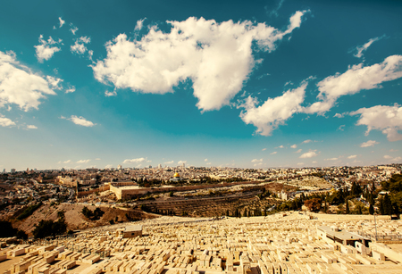 Jerusalem Old City view from Mount of Olives
