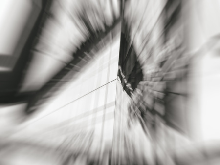 Abstract motion blur effect. City on a sunny day.