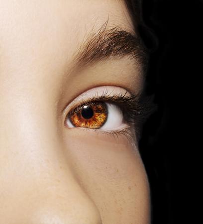 A beautiful insightful look girl's eye. Close up shot 版權商用圖片